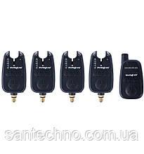 Набор сигнализаторов поклевки с пейджером World4Carp FА 212-4