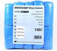 Бахилы полиэтиленовые Medicom плотность 1.5 гр 50 пар Голубые (MAS40046)