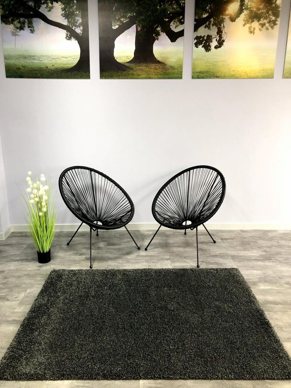 Ковер ШЕГИ темно-серый 120x170 см