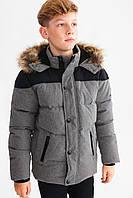 Зимний подростковый пуховик для мальчика C&A Германия Размер 146