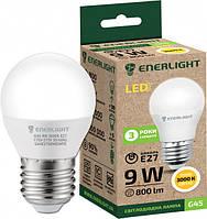 Лампа светодиодная ENERLIGHT G45 9Вт 3000K E27