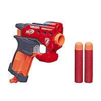 Компактный бластер Пистолет Нерф с 2 большими стрелами-дротиками Nerf Bigshock- N-Strike Mega, Nerf, Hasbro