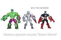 "Набор разборных фигурок 3в1 Халк, Ультрон, Капитан Америка ""Машерс"" - Mashers, Hasbro"