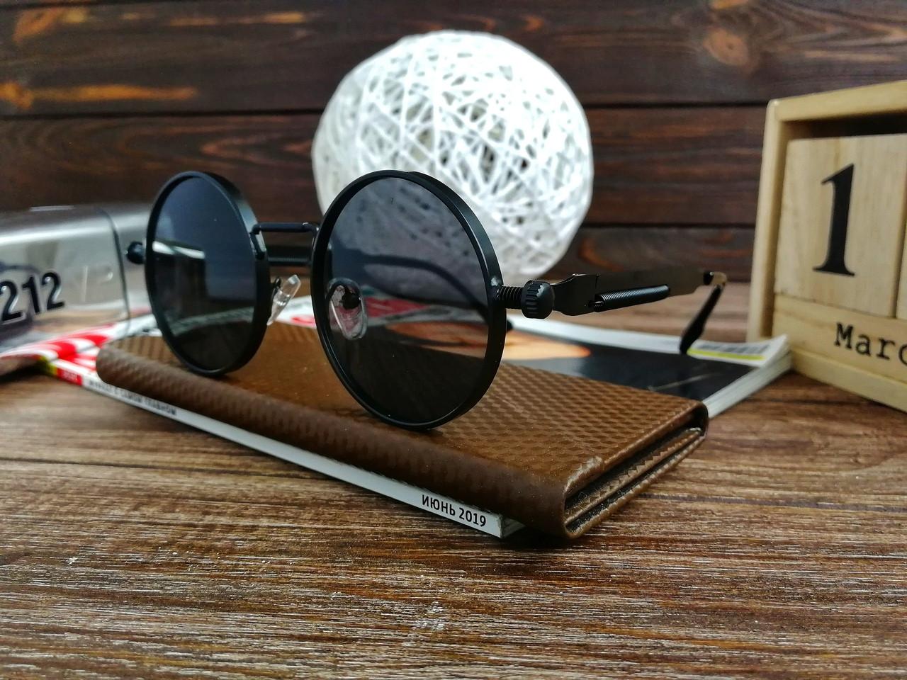 Стильные солнцезащитные очки в стиле ретро Унисекс (черный)