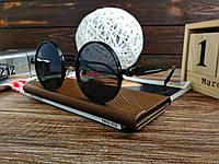 Стильные солнцезащитные очки в стиле ретро Унисекс (черный), фото 1