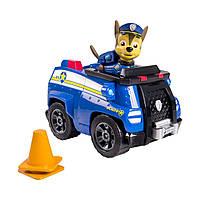 Игровой набор Щенячий Патруль: Гонщик Чейз и полицейская машина, 14 см - Chase's Cruiser Paw Patrol, Spin