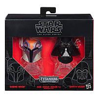 Коллекционные Игровые Мини-шлемы Сабина Рен и Дарт Вейдер Звездные войны - Star Wars Black Series Hasbro