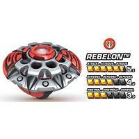 Игровой Волчок нападающий Ребелон команды Паладин с картой - Rebelon, Team Paladin, Battle Strikers, Mega