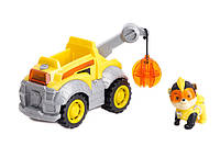 Игровой набор Щенячий Патруль: Крепыш и спасательный грузовик - Rubble Deluxe Vehicle, Mighty Pups, Spin