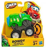 Машинка мусоровоз Роуди Чак и его друзья, подвижная, раскачивающаяся, 10 см - Rowdy, Playskool, Tonka, Hasbro, фото 1