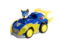 Игровой набор Щенячий Патруль: Гонщик и мегаполицейская машина - Chase Deluxe Vehicle, Mighty Pups, Spin