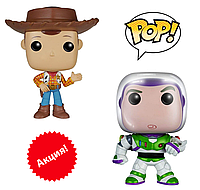 "Набор фигурок Funko Pop Вуди + Баз Светик (Лайтер) из м/ф ""История игрушек"" - Woody & Buzz, Toy Story"