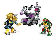 """Конструктор Рафаэль и Крэнг """"Сражение в Измерении Х"""", 81 дет - Raphael, Dimension X Battle, TMNT, Mega Bloks Мега Блокс"""