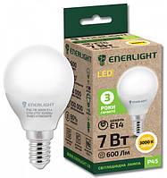 Лампа светодиодная ENERLIGHT P45 7 Вт 3000K E14