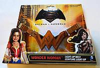 Пояс Чудо-женщины Золотистый со световыми эффектами - Wonder Women, Belt, Batman v Superman, Imagine by Rubies
