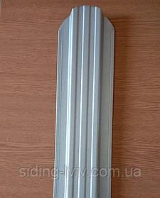 Євроштахети 115 мм цинк сірий штахетник металевий метал 0,45 товщина