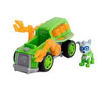 Игровой набор Щенячий Патруль: Рокки и тягач для очистки улиц - Rocky Deluxe Vehicle, Mighty Pups, Spin Master