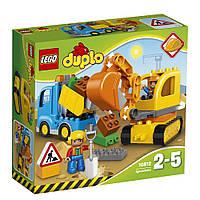 Lego Duplo Грузовик и гусеничный экскаватор 10812