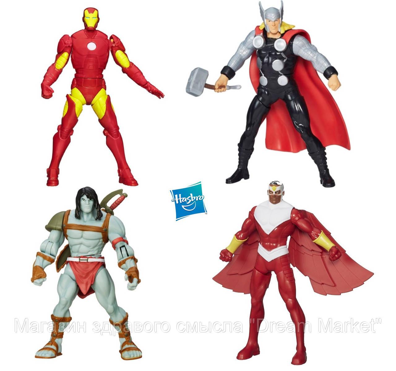 Набор Мстители 4в1: Скар, Тор, Железный человек, Сокол, 15см - Avengers, Hasbro
