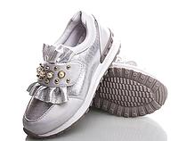 Ботинки, кроссовки, слипоны детские для девочки Waldem, серебро 36 , 37 р.