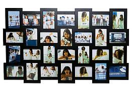 Большая настенная фоторамка Invotis Collage 28 (3 цвета) Черн