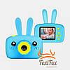 Детская фото видеокамера с ушками Smart Kids HD