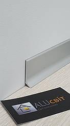 Плинтус накладной алюминиевый 40 мм анодированный