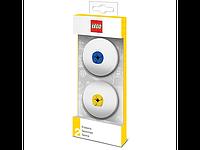 Lego Набор стирательных резинок (голубая и желтая) 5005108