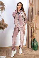 Очень красивый велюровый женский спортивный костюм арт 78