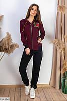 Трендовый весенний женский спортивный костюм двунитка арт 5942