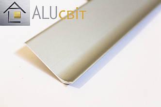 Плинтус накладной алюминиевый 60 мм анодированный, фото 2