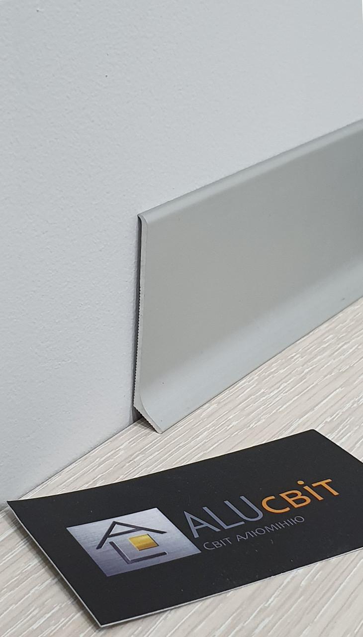 Плинтус накладной алюминиевый 60 мм анодированный