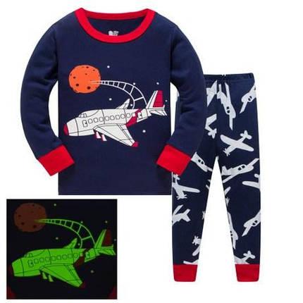 Пижама детская для мальчика 3 года светится в темноте, фото 2
