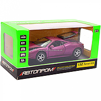 Машинка ігрова автопром «Ferrari 458» метал, 14 см, світло, звук, двері відкриваються (3201C), фото 2