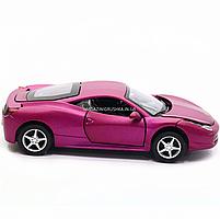 Машинка ігрова автопром «Ferrari 458» метал, 14 см, світло, звук, двері відкриваються (3201C), фото 4