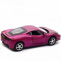 Машинка ігрова автопром «Ferrari 458» метал, 14 см, світло, звук, двері відкриваються (3201C), фото 5