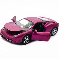 Машинка ігрова автопром «Ferrari 458» метал, 14 см, світло, звук, двері відкриваються (3201C), фото 8