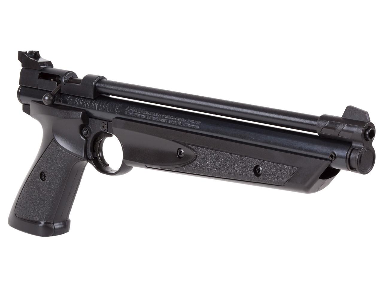 Пистолет пневматический Crosman 1377 Black American Classic, с предварительной накачкой