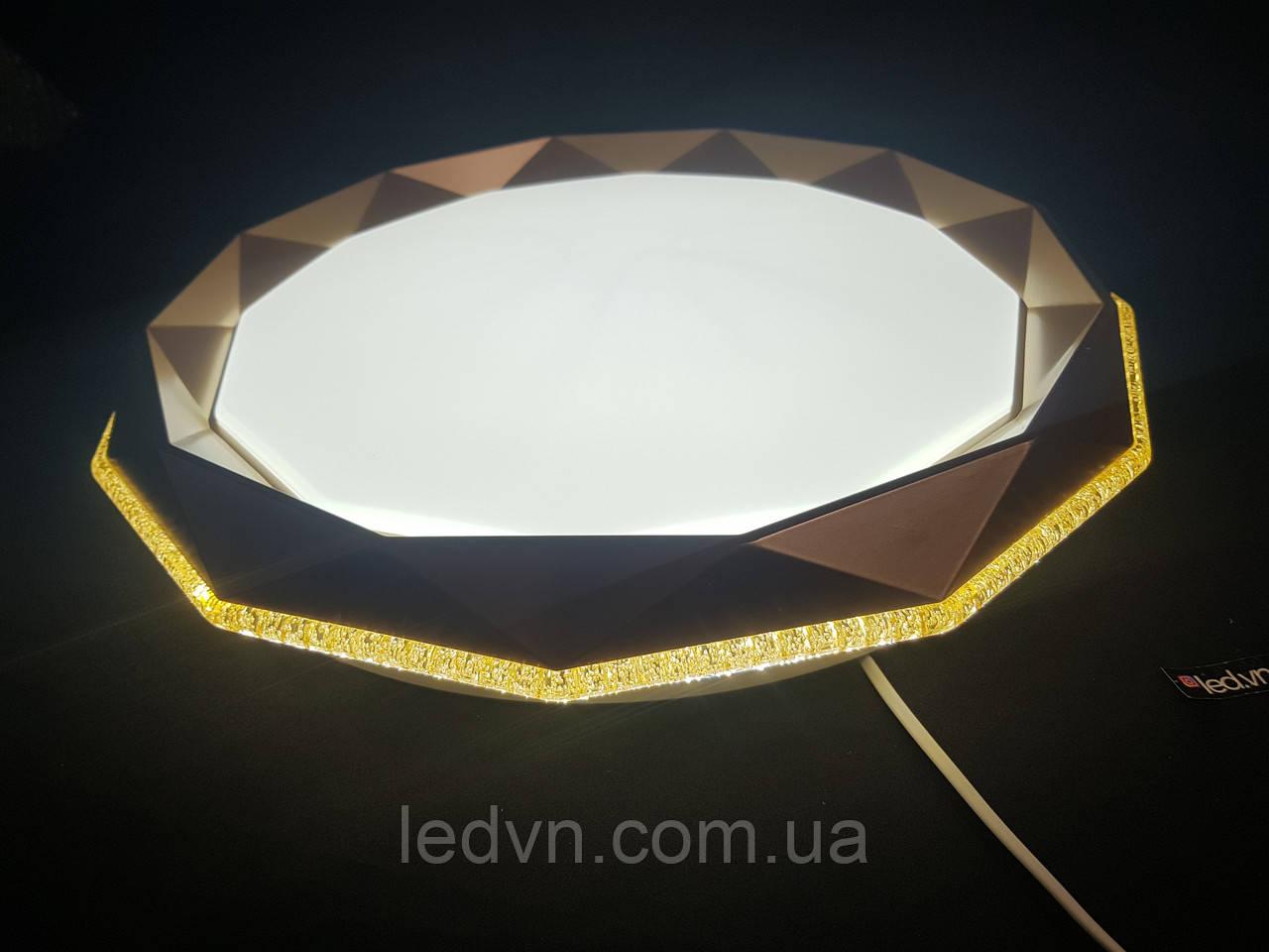 Потолочный светодиодный светильник золото 50 ватт