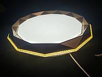 Потолочный светодиодный светильник золото 50 ватт, фото 1