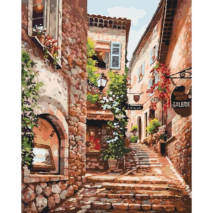Картина по номерам Идейка - Солнечная улочка 40x50 см (КНО2158)