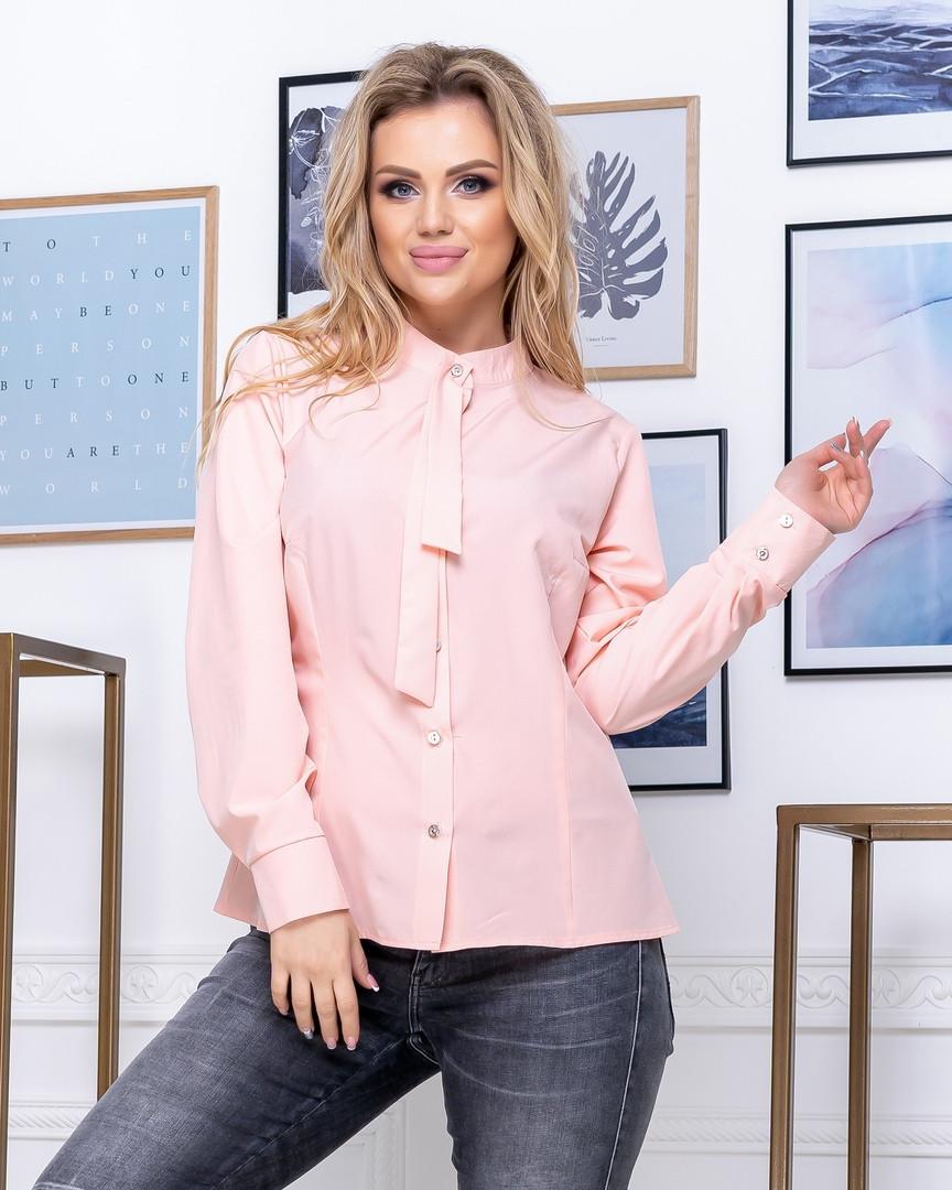 Рубашка женская с галстуком длинный рукав большие размеры