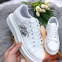 Кроссы белые женские, фото 1