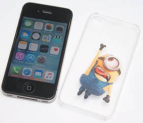 Apple iPhone 4S 16GB Black Neverlock + скло + чохол Міньйони