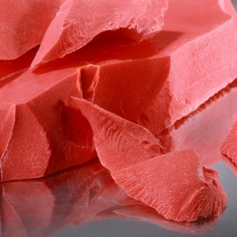 Шоколадна глазур червона моноліт 5 кг, фото 2