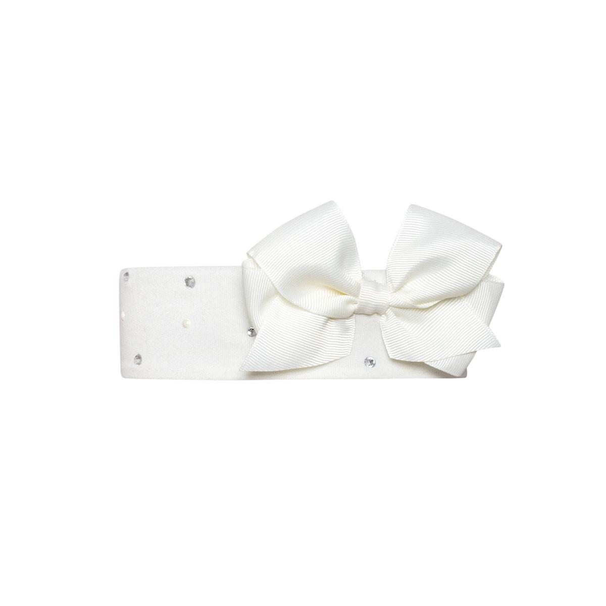 Дитяча пов'язка на голову для дівчинки Одяг для дівчаток 0-2 BARBARAS Польща CB39 Білий
