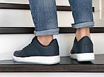 Мужские кожаные кроссовки Force (темно-синие) 9175, фото 3
