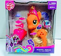 Игровой Набор Маленькая Пони для девочек с аксессуарами и световыми эффектами для детей от 3 лет, разноцветный