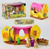 Игровой набор Кукла Златовласка Рапунцель c домиком, лошадкой, хамелеоном, световые и звуковые эффекты, Дисней