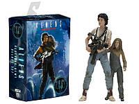 Игровая Коллекционная Фигурка Эллин Рипли и Ньют, 18СМ - Ellen Ripley, Alien 3, Series 7, Neca Нека